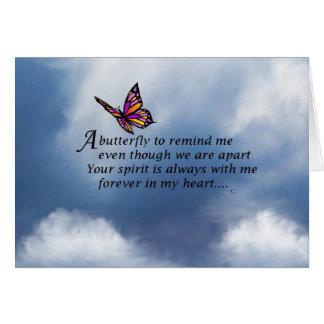 Cartão Poema do memorial da borboleta