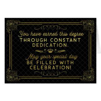 Cartão Poema formal do ouro preto dos parabéns da