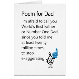 Cartão Poema para o pai - um poema engraçado do dia dos