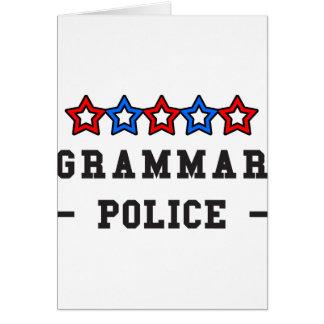 Cartão Polícia da gramática