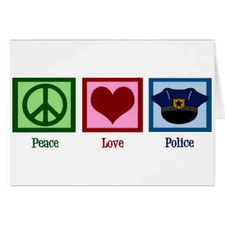 Cartão Polícia do amor da paz