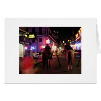 Cartão Polícia montada rua de Bourbon