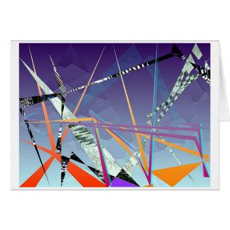 Cartão polígono contrastive #1