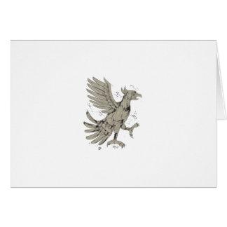Cartão Polígono do símbolo de Cuauhtli Glifo Eagle baixo