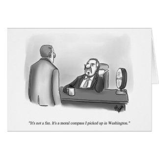 Cartão político engraçado do vazio do humor