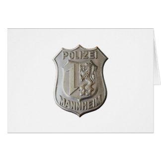 Cartão Polizei Mannheim
