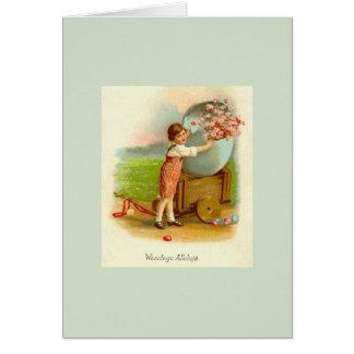 Cartão polonês da páscoa do vintage