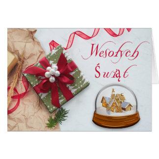 Cartão Polonês/Polski - Feliz Natal/Wesołych Świąt