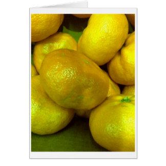 Cartão Polpa do citrino