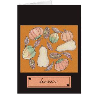Cartão Polpa recompensa Samhain laranja do 31 de outubro