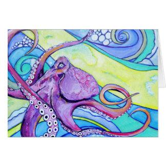 Cartão Polvo de Surfin