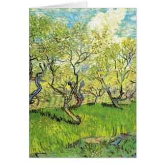 Cartão Pomar na flor Vincent van Gogh