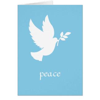 Cartão Pomba azul e branca da paz