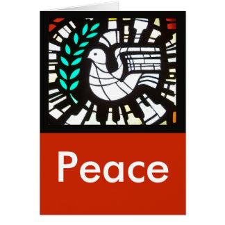 Cartão Pomba -- Paz com Shakespeare