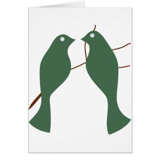 Cartão Pombas da tartaruga