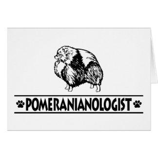 Cartão Pomeranian cómico