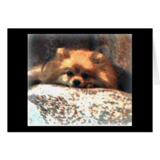 Cartão Pomeranian Notecard