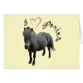 Cartão Pôneis do amor