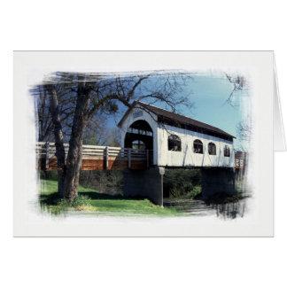 Cartão Ponte coberta da angra do antílope