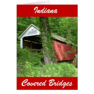 Cartão Ponte coberta de Indiana
