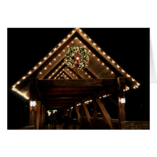 Cartão Ponte coberta do Natal