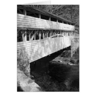 Cartão Ponte coberta Notecard de parque nacional da forja