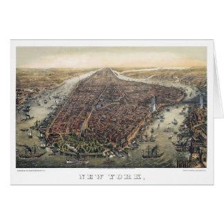 Cartão Ponte da Nova Iorque do vintage, Manhattan,