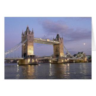Cartão Ponte da torre de Londres Notecard