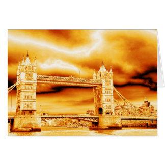 Cartão Ponte da torre no ouro