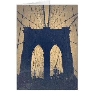 Cartão Ponte de Brooklyn