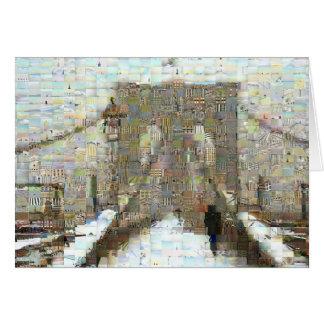 Cartão Ponte de Brooklyn, dia nevado