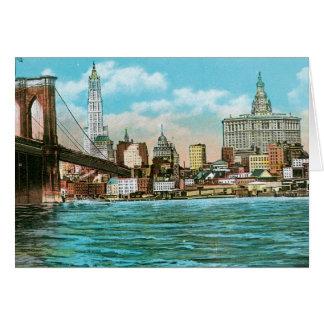 Cartão Ponte de Brooklyn, Woolworth e Municipal…