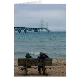 Cartão Ponte de Mackinac da visão