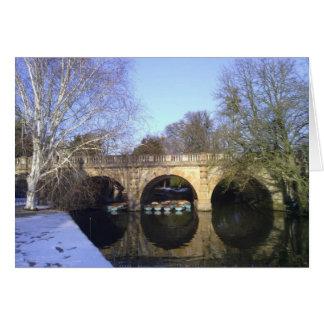 Cartão Ponte de Magdalen, Oxford