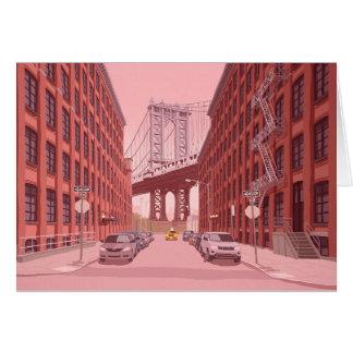 Cartão Ponte de Manhattan