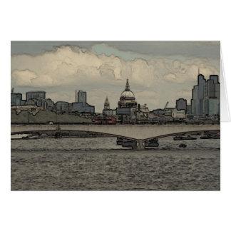 Cartão Ponte de Waterloo, Londres