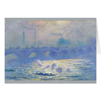 Cartão Ponte de Waterloo por Claude Monet