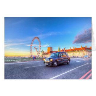 Cartão Ponte de Westminster e o olho de Londres