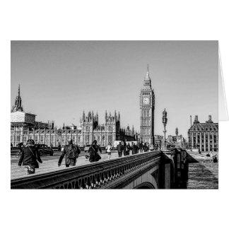 Cartão Ponte de Westminster, Londres