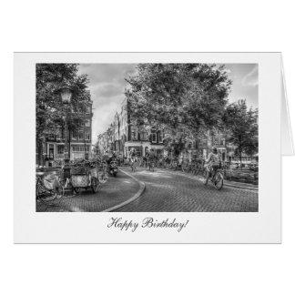 Cartão Ponte de Wolvenstraat Singel - feliz aniversario