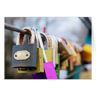 Cartão Ponte do fechamento do amor