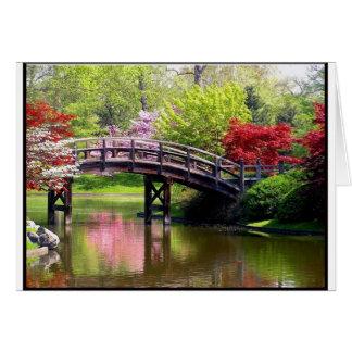 Cartão Ponte do primavera