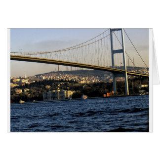 Cartão Ponte em Istambul
