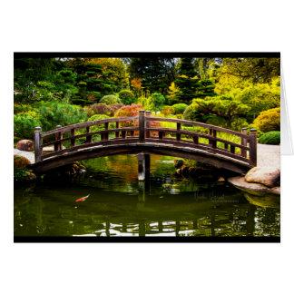 Cartão Ponte em jardins de Hakone