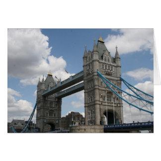 Cartão ponte Londres da torre
