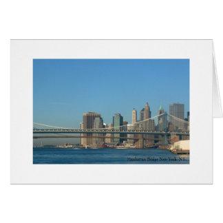 Cartão Ponte New York de Manhattan, NY.