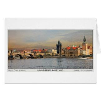 Cartão Ponte Pano de Praga - de Charles