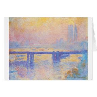 Cartão Ponte transversal de Charing por Claude Monet
