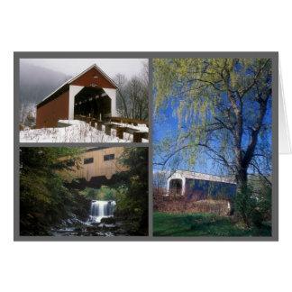 Cartão Pontes cobertas Massachusetts