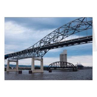 Cartão Pontes do porto de Duluth no Lago Superior